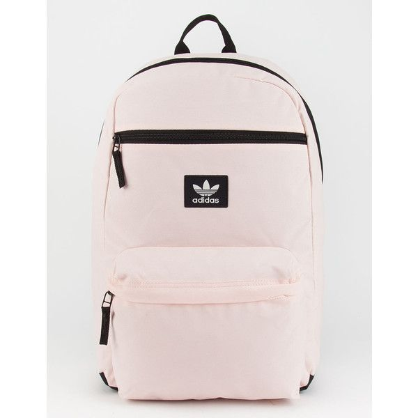 Adidas Originals National Backpack (£39) ❤ liked on Polyvore featuring bags, backpacks, polyester backpack, shoulder strap bags, water resistant rucksack, zipper pouch bag and padded backpack