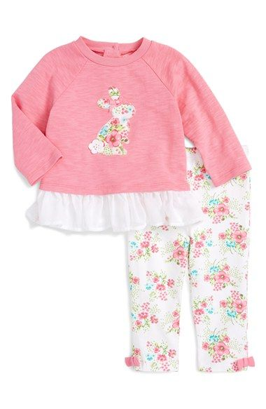 Little Me 'Bunny' Top & Leggings Set (Baby Girls)
