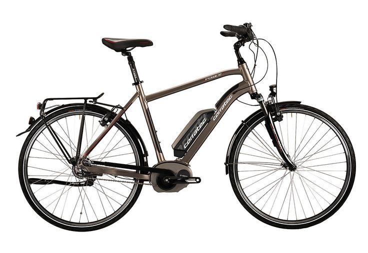 E-Bike, 28 Zoll, SHIMANO 8 Gang Nexus, »E-Power 28 Bosch Coaster Active Gent 400«, Corratec.  Lieferbar in 2 Rahmenhöhen  Das perfekte E-Bike von corratec für anspruchsvolle Fahrer jeden Alters. Dank des einzigartigen, dreifach verstärkten Fusion Unterrohres ist der Rahmen extra stabil für den kraftvollen Motor und ermöglicht einen tiefen Einstieg sowie ein sicheres Fahrgefühl. Das E-Bike ist z...