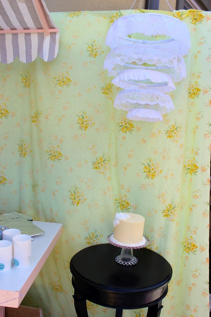 DIY lace chandelier - Pretty Picnic Party - Daisy Dreaming: Crafts Ideas, Diy Lace, Lace Embroidery, Parties Ideasgirlspastel, Embroidery Hoop, Picnics Parties, Parties Ideas Girls Pastel, Shops Sweet Lulu, Daisies Dreams Lac