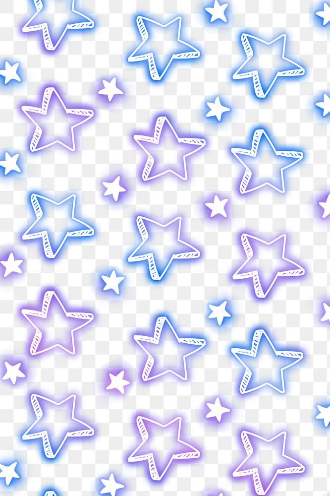 Neon Star Doodle Pattern Background Png Free Image By Rawpixel Com Ployploy Doodle Patterns Star Doodle Background Patterns