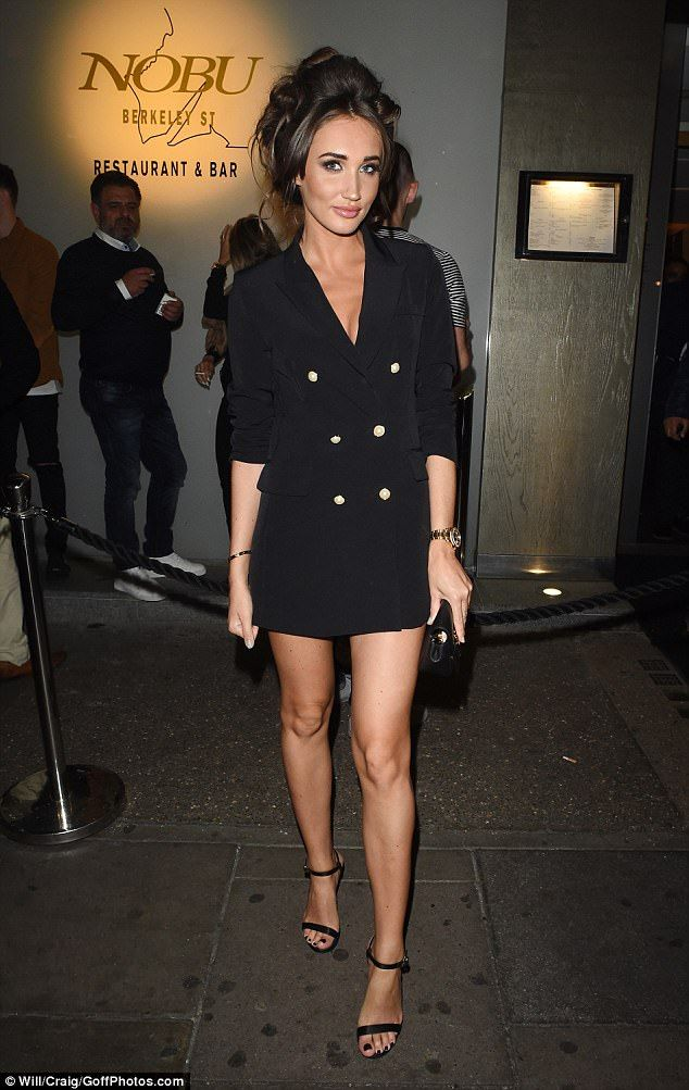 Hot: TOWIE's Megan McKenna flaunted her figure in sexy-chic attire at upscale eatery Nobu ...