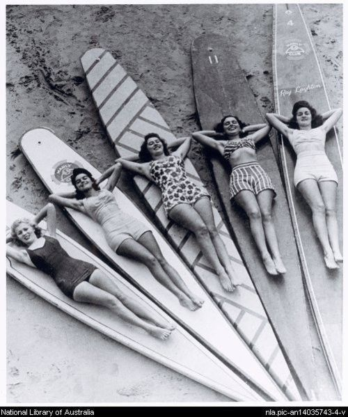 Chilling with the Gold Coast, Queensland Girls...    from the National Library of Australia