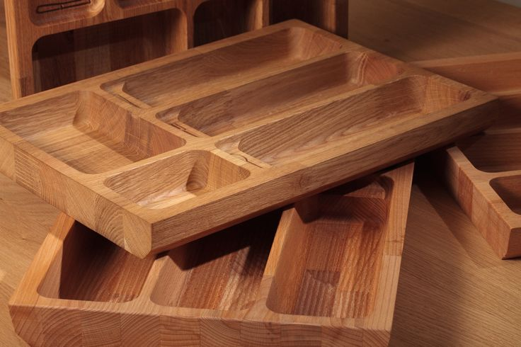 Made from the same stunning solid wood as our worktops, and using precision CNC technology, our cutlery drawer inserts are incredibly hard-wearing. Each is sanded and finished by hand: http://www.solidwoodkitchencabinets.co.uk/Cabinet_Installation_Accessories/solid-wood-cutlery-tray-insert-for-drawers.html
