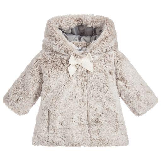 be85b2db7 Girls Grey Faux Fur Gilet
