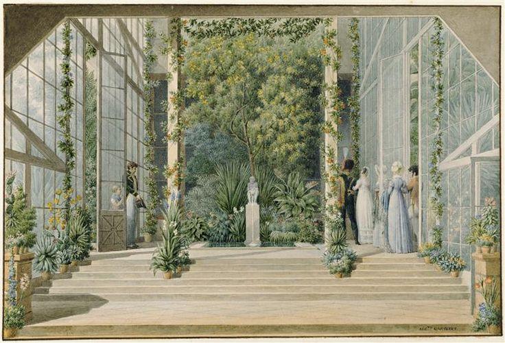 Intérieur de la serre-chaude à la Malmaison | Musée national des châteaux de Malmaison et de Bois - Préau