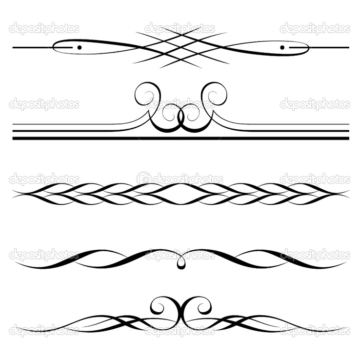 Dividers | Decorative elements, border and page rules | Stock Vector © Andrejs ...