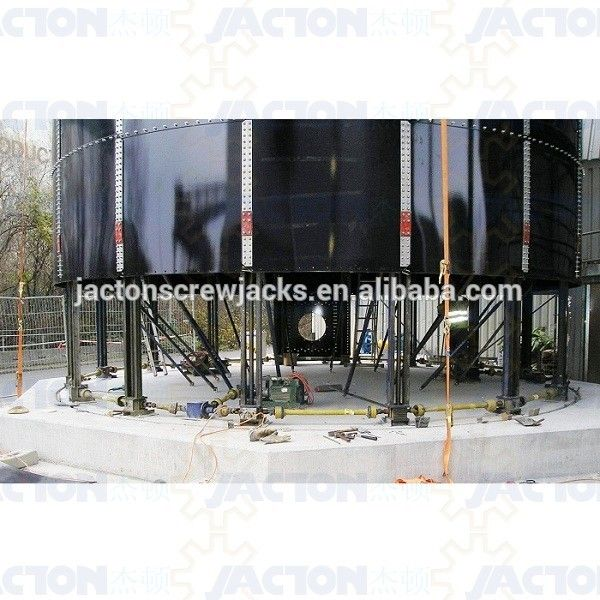 brasil usa mexico client JTC50 lifting screw jacks systems for storage silo bolted tank projects