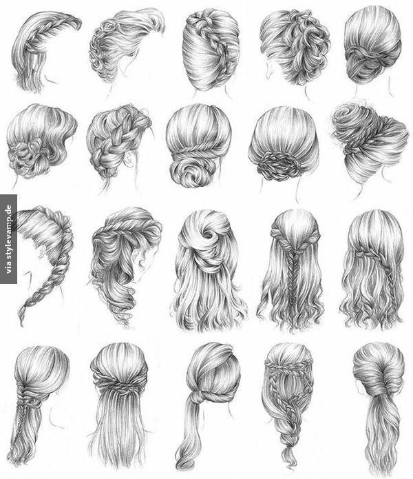Haare zeichnen dutt