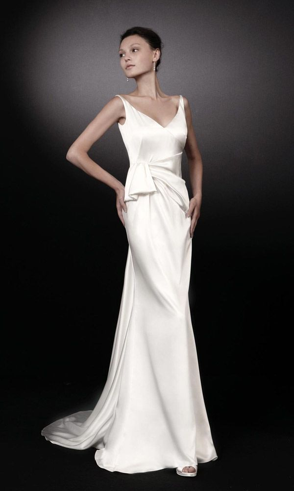 Yolanda || Peter Langner: love the middle of this dress. art deco wedding dress gown