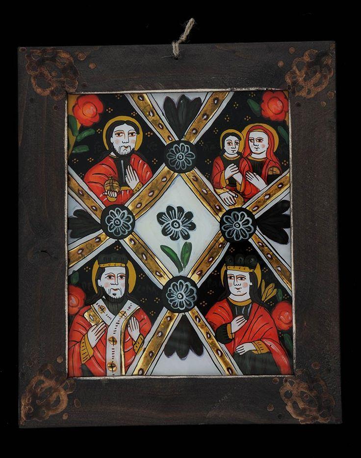Icoana pictata pe sticla Masa Raiului