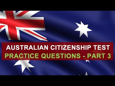 Australian Citizenship - Our Common Bond has information you need to prepare for the citizenship test. Watch the DVD and then practice with the test question...