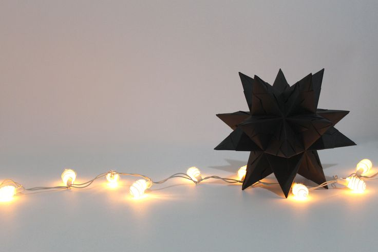 Optimus black, bascetta star, origami, paper mess project