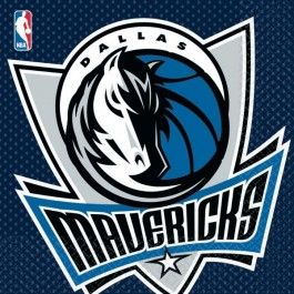 Add in some Dallas mavericks lunch napkins with your basketball party./ Wally's Party Factory #dallas #mavericks #lunch #napkins