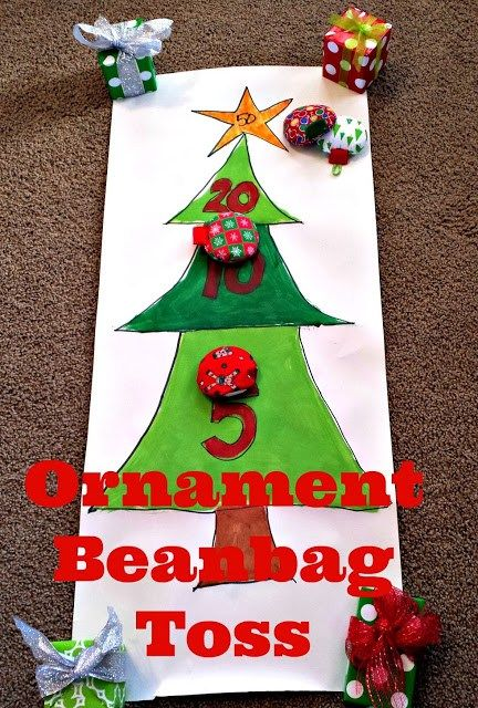 This ornament beanbag toss game will be a hit with kids this Christmas! Such a fun idea! #SwellNoel