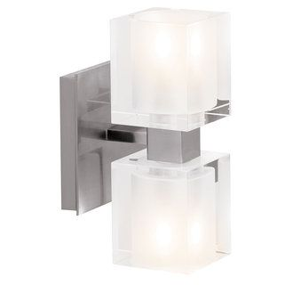 Web Image Gallery Access Lighting Contemporary Modern Two Light Up Down Lighting Wide Bathroom
