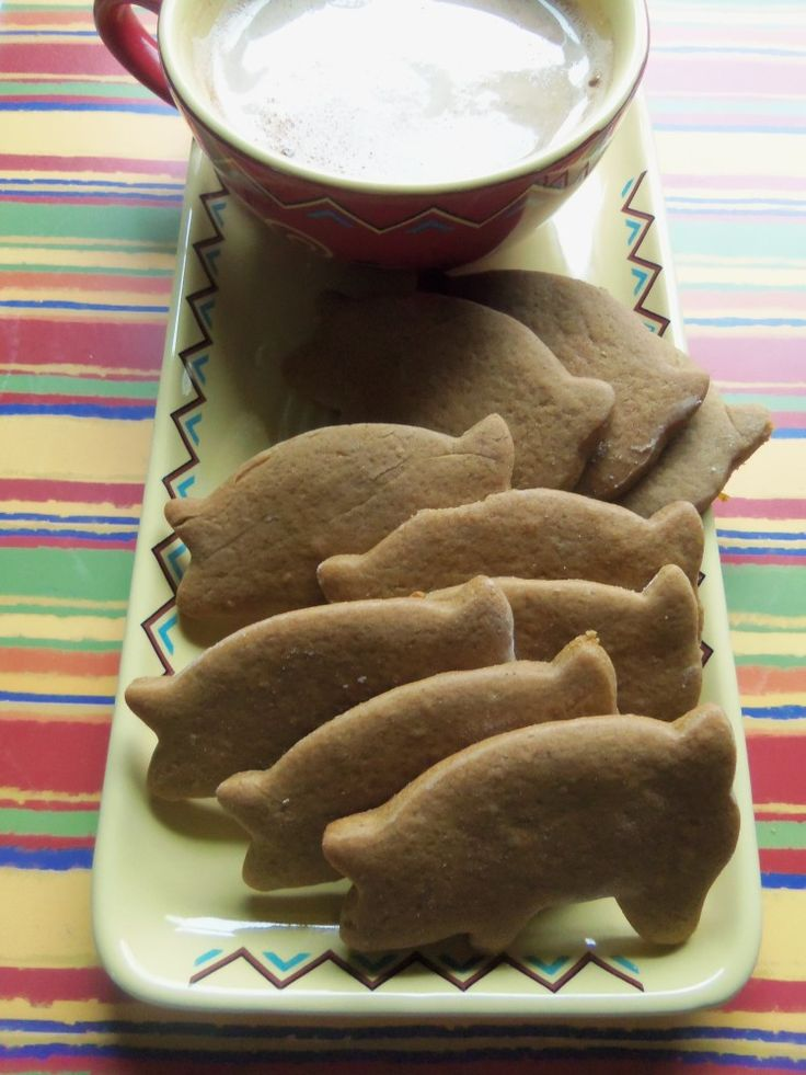 """These traditional molasses and ginger cookies also known as """"Cochinitos"""" for """"Little Pigs""""… a favorite childhood treat from the Mexican … Continue reading →"""