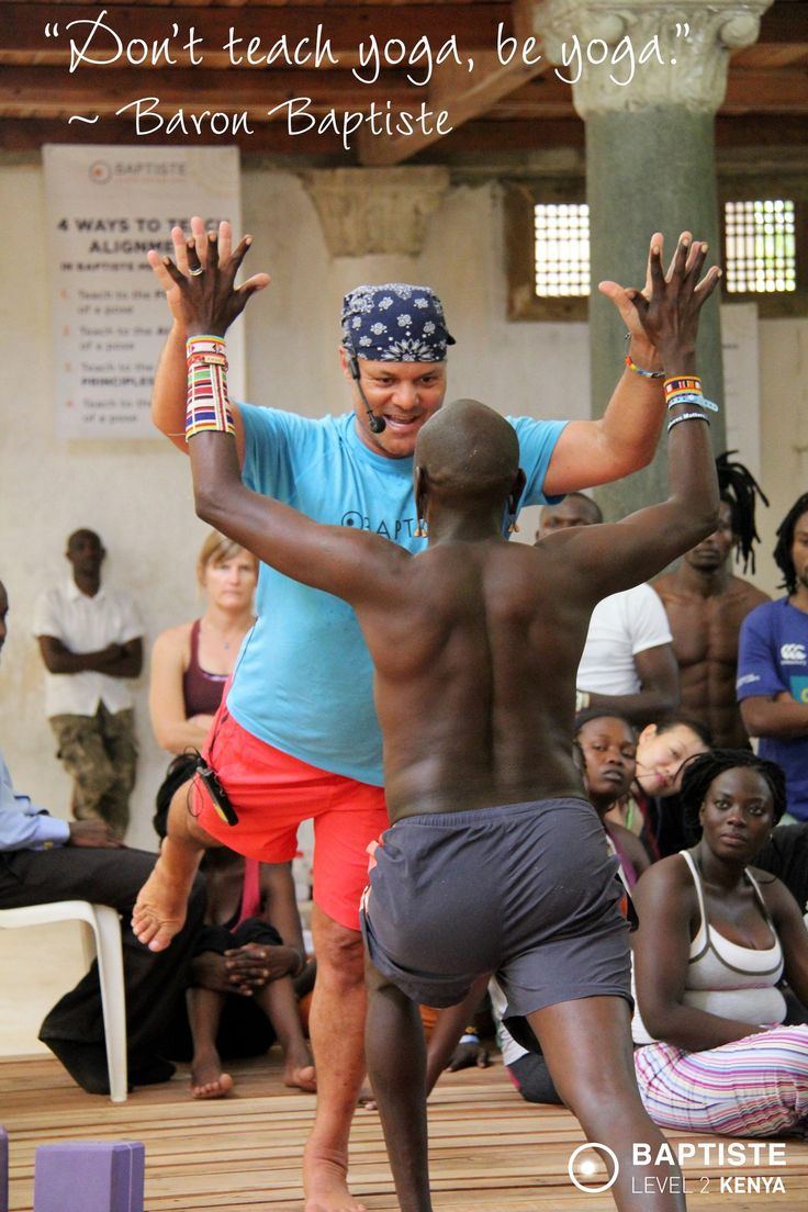 """Don't teach yoga, be yoga."" ~ Baron Baptiste  Join us for a FREE and Live yoga practice From Kenya: Practice with Baron Baptiste and Africa Yoga Project at the Level 2 Training happening in Malindi Kenya Saturday! The Event is here: https://www.facebook.com/events/171354829712392/"