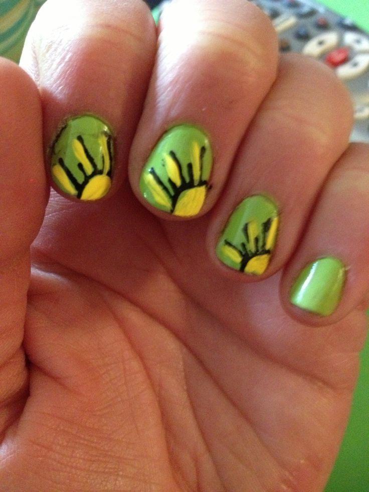 Sunshine nails #Summer #nails #sun - 20 Best Sun Nail Art Tutorial & Video Gallery By Nded Images On