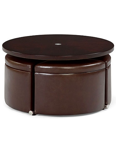 Height Coffee Table With 4 Seats Storage Coffee Tables Ottomans