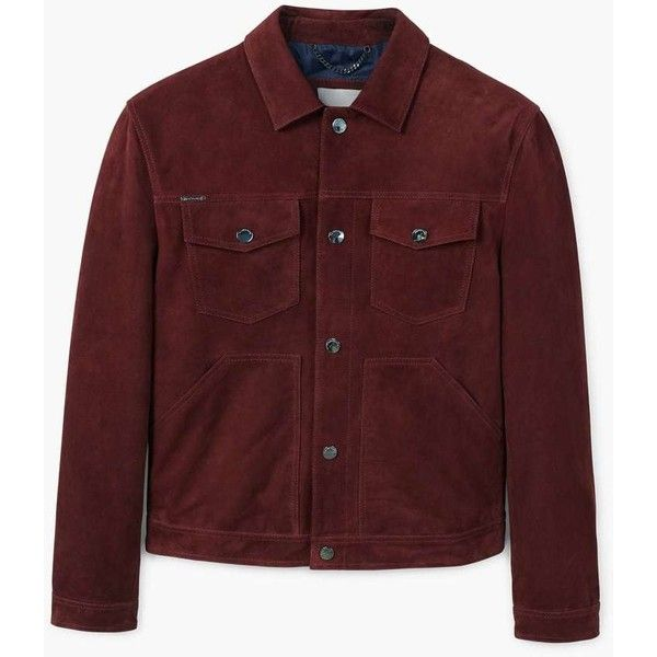 Suede Biker Jacket (290 CAD) ❤ liked on Polyvore featuring men's fashion, men's clothing, men's outerwear, men's jackets, mens suede leather jacket, mens suede motorcycle jacket, mens suede moto jacket, mens suede biker jacket and mens collared jacket