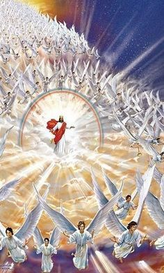Our Saviour and God Jesus with His angels ~