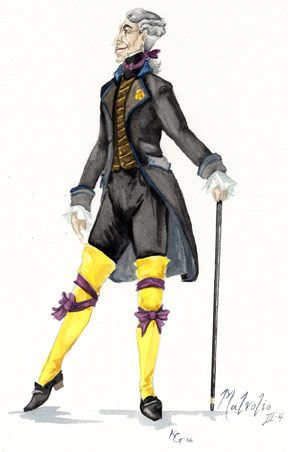 These are the cute yellow stockings that Malvolio thought Olivia liked. The thing is she didn't so he just looked like a fool.