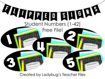 These numbers were designed to label student reading materials, such as book boxes or folders. Labels are numbered from 1 to 42, to align with your student numbering system. Thank you for downloading this file! Coordinates perfectly with... Schedule Signs Genre Posters Alphabet Line (ZB Manuscript) Alphabet Line (ZB Cursive) Alphabet Line (DN Manuscript) Alphabet Line (DN Cursive) Leveled Library Labels Table Numbers (free file) Kristen Ladybug's Teacher Files www.ladybugsteacherfiles.com