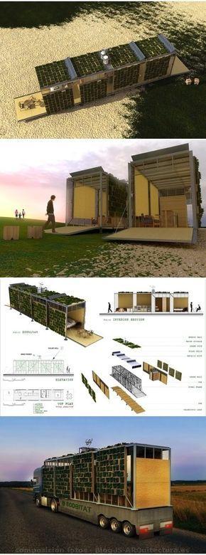 ECObitat: casa prefabricada con fachadas vegetales #ecología