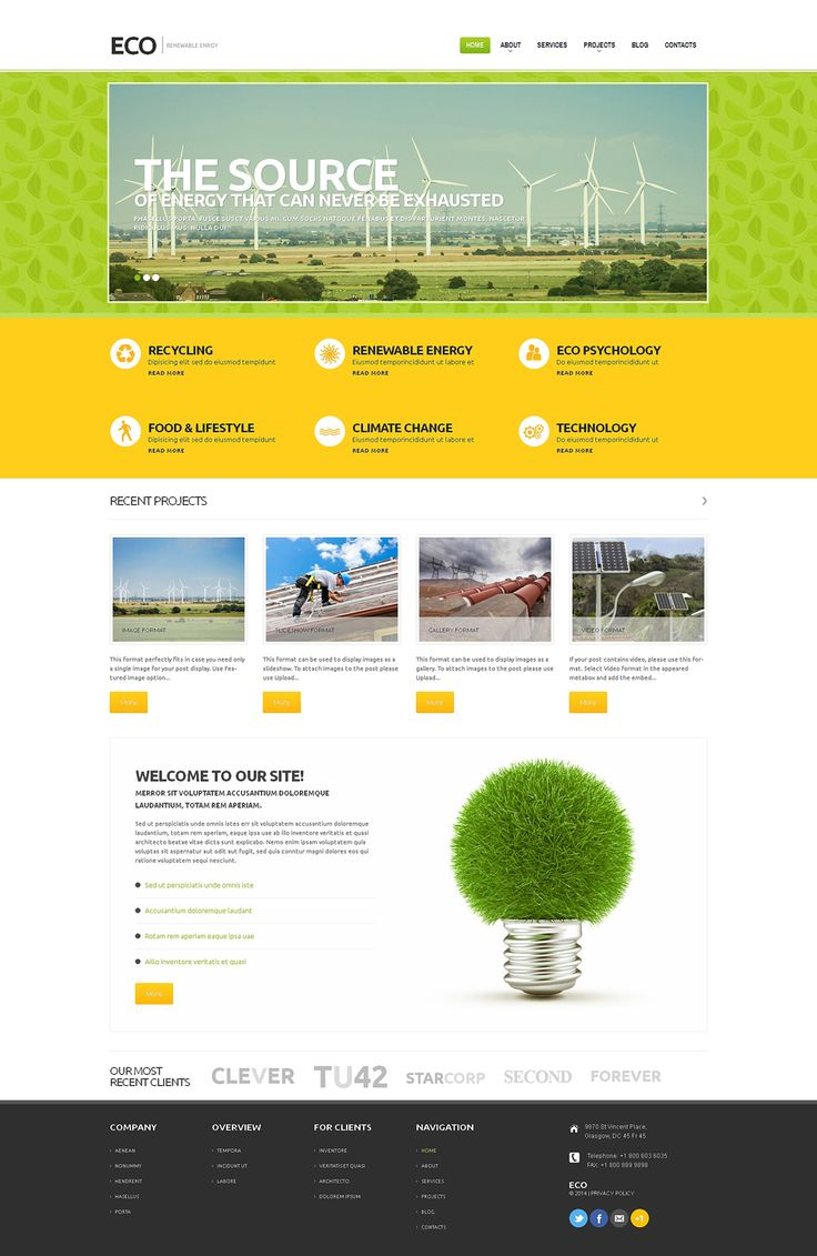 Best 12 Environmental & Clean Energy WordPress Themes (Solar, Wind and Recycling) - Wind Energy (website theme) Item Picture