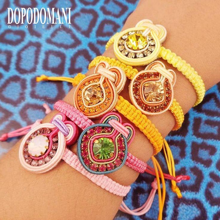 We love them in every color!!  Amamos las pulseritas en todos los colores!!   #Dopodomani #Accessories #Colors #Fashion