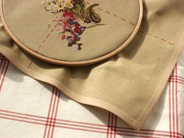 МК по отделке края вышивки
