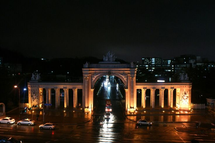 A night view of the kyunghee univ.