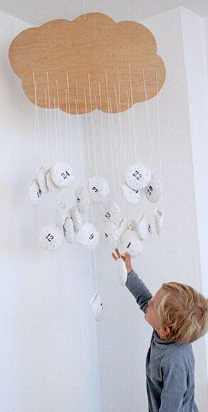 DIY Adventskalender -Regenwolke