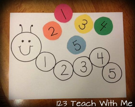 Easy number recognition...could use to match numerals and ten frames, etc.