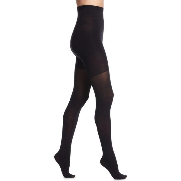 Spanx High-Waisted Luxe Sheer Tights (25.340 CLP) ❤ liked on Polyvore featuring intimates, hosiery, tights, very black, spanx hosiery, high waisted tights, pantyhose stockings, spanx tights and pantyhose hosiery