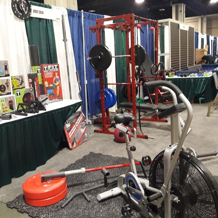 Greetings from #Charlotte! @BodySolidFit representatives are currently attending the #PlayItAgainSports Trade Show showing off some of our new products including updated power racks landmines and the FB300 Fan Bike.  #charlottenc #playitagain #playitagainsportsshow #playitagainsportstradeshow #tradeshow #charlottenorthcarolina #northcarolina #bodysolid #builtforlife