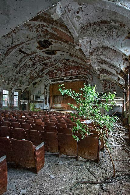an abandoned theatre