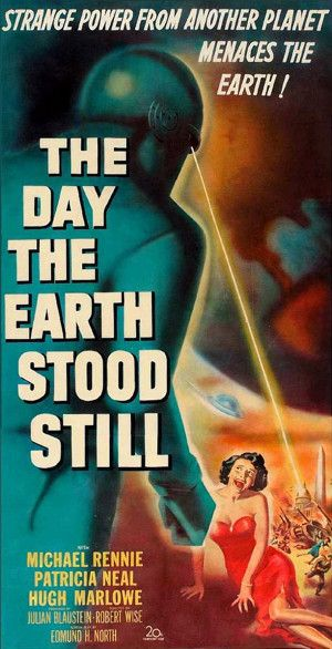The Day The Earth Stood Still 1951 - The B style poster for this classic movie! Like the A style - it's an amazing piece of sci-fi art.                                                                                                                                                      More