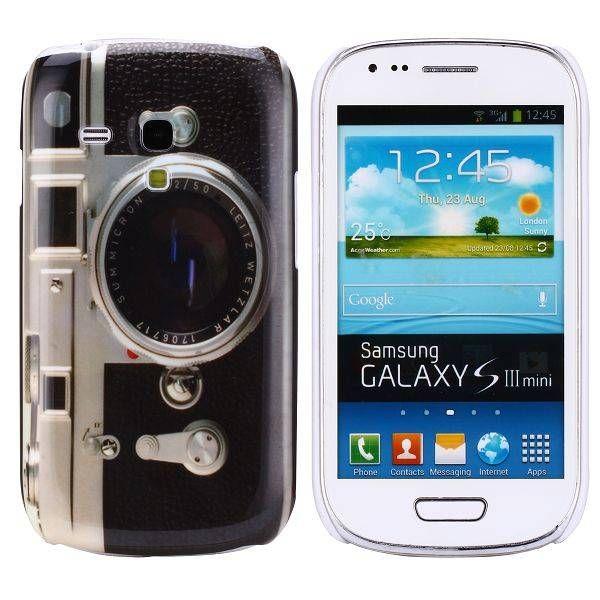 Fotocamera hardcase hoesje voor de Samsung Galaxy S3 mini