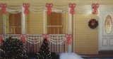 Set of Swag Style Christmas Lights with Red Shimmering Bow – White Wire | formulablogger.com