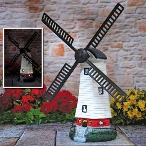 Solar-Powered-Motion-Windmill-Spinning-Glowing-Windows-Garden-Patio-Decor-Yard