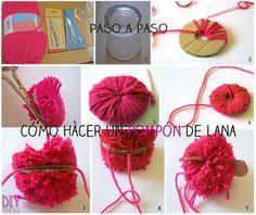 Una manualidad muy sencilla para introducir a los más pequeños de la casa en el mundo DIY. Enséñales a hacer pompones de lana!