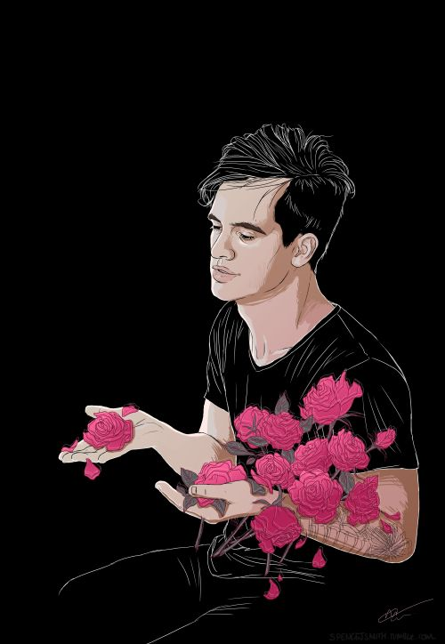 Brendon and roses