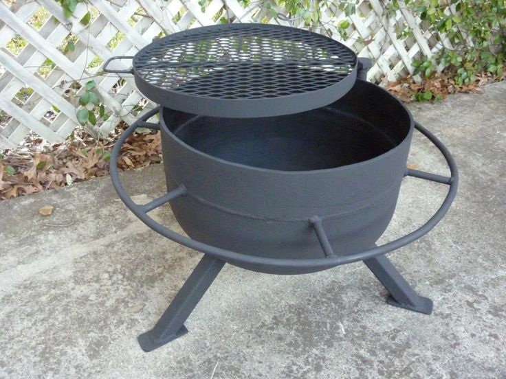 tank end fire pit/grill