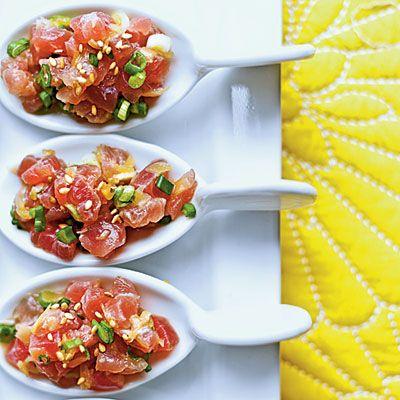 Tuna Tartare with Ginger and Toasted Sesame (Coastal Living Magazine)