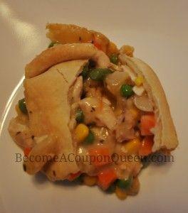 homemade chicken pot pie on a plate