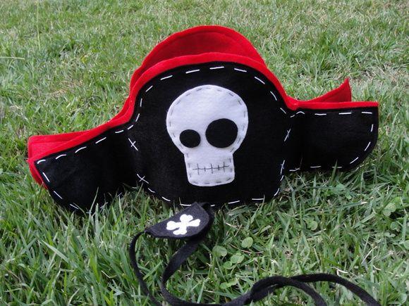 Chapéu e tapa olho de pirata