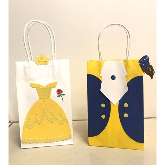 Beauty and the Beast Party Bags (Belle & Beast) Disney princess Birthday, kids,