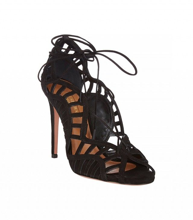 Why I Think Expensive Heels Are Totally Worth the Money via @WhoWhatWear  AquazzuraLola Cutout Sandals($995